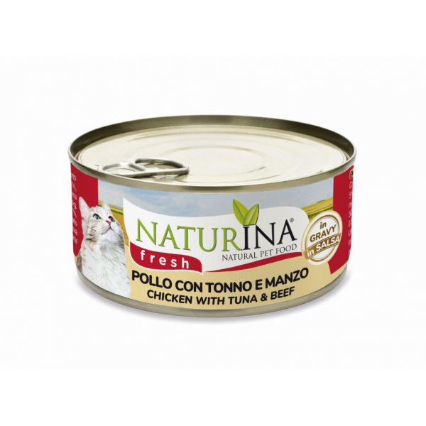 Fresh Cans Chicken with Tuna and Beef 70g SUPER DISCOUNT 22%